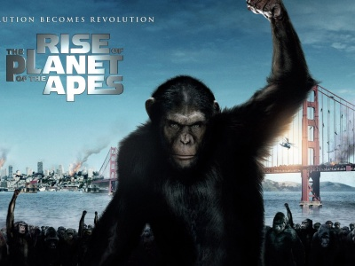 2011 Rise Of The Planet Of The Apes Poster Movie