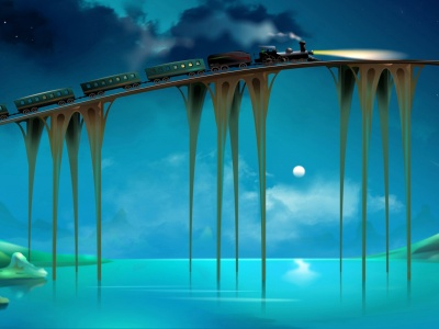 3D Bridge Train (click to view)