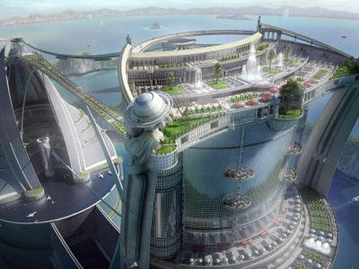3D Creative Anime City1