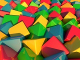 3D Multicolored Cubes