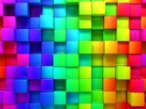 3D Rendering Cubes Colored