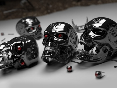 3D Robot Skulls (click to view)