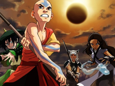 Aang Sokka Catarrh Toph Avatar The Last Airbender (click to view)