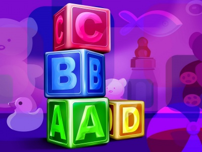 Abc Cubes Wallpaper