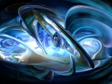 Abstract 3D Blue Rings