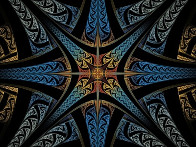 Abstract Starburs Fractal