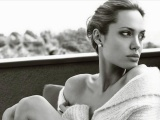 American Famous Hollywood Actor Angelina Jolie Black And White