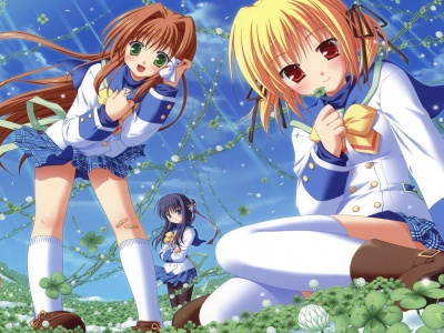 Anime Girls Picking Flowers (click to view)