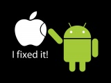 Apple Inc Humor Android Funny Logos Black Background