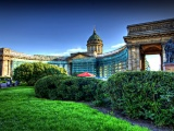 Architecture Kazan St Petersburg Cathedral Decorative Garden R