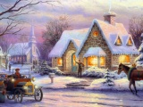 Art Christmas Idyll Painting