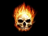 Art Flaming Skull