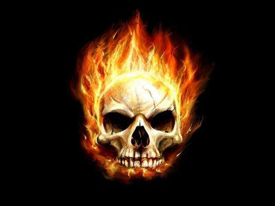 Art Flaming Skull (click to view)