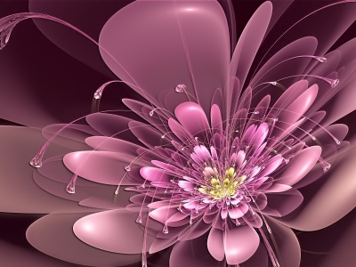 Art Flower Antennae Neon Petals Pink (click to view)