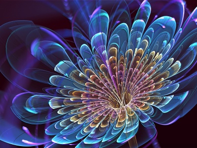 Art Flower Blue Petals (click to view)