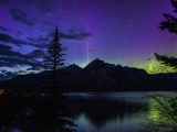 Aurora Light Over Banff Park-Canada