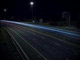 Autobahn Road Lights Night