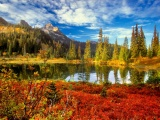 Autumn Clouds Lakes Mountains