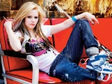Avril Lavigne And Electric Guitar