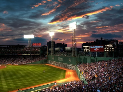 Baseball Game At Fenway Park (click to view)