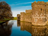 Beaumaris Castle Town Of The Same Name Wales Uk