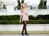 Berit Birkeland Blonde Dress Style Fence