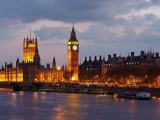 Big Ben Great Britain England London Westminster Palace River Thames City Evening