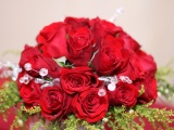 Bouquet Of Red Roses On 8 March