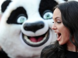 Brunettes Women Angelina Jolie Funny Open Mouth Kung Fu Panda