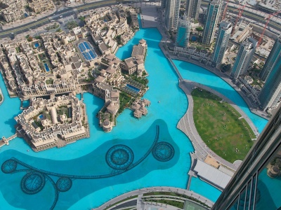 Burj Khalifa Dubai Uae Water Pool