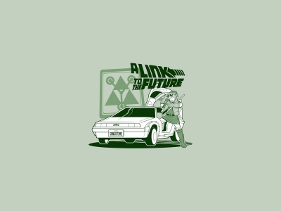 Cartoons Link Cars Comics Funny Back To The Future The Legend Of Zelda Spoof Doc Brown Marty Mcfly Legend Of Zelda Delorean Dmc 12 (click to view)