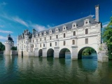 Castle Lake River France Chateau De Chenonceau