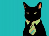 Cats Animals Vector Tie Business Business Cat