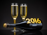 Champagne Happy New Year 2016