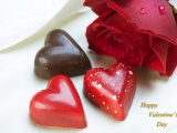 Chocolate Hearts And Rose
