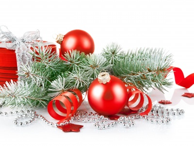 Christmas Branches And Gift (click to view)