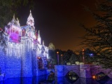 Christmas Castle Disneyland Walt Disney