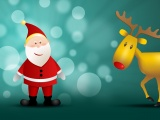 Christmas New Year Deer Santa Claus