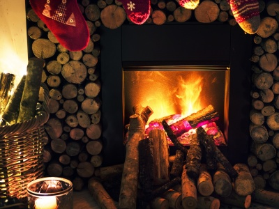 Christmas New Year Fireplace (click to view)