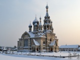 Church Village Spassky Church Yaroslavl Region Snow Winter City Landscape