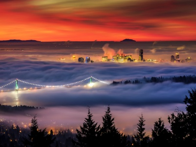 City Vancouver Covered In Fog (click to view)