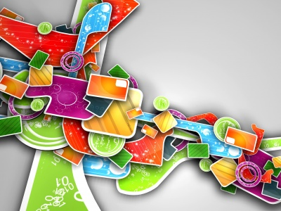 Colorful Abstract 3D Art (click to view)