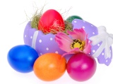 Colorful Easter Eggs And Decoration