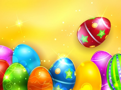 Colorful Shiny Easter Eggs (click to view)