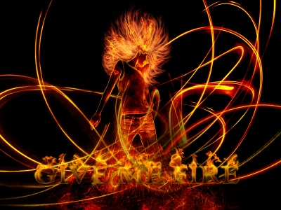 Cool Abstract Fiery Dance (click to view)