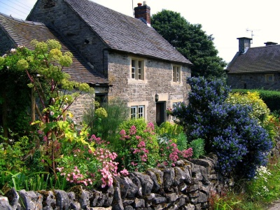 Cottage Garden In Tissington Derbyshire
