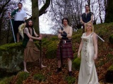 Cruachan Band Image Girl Forest