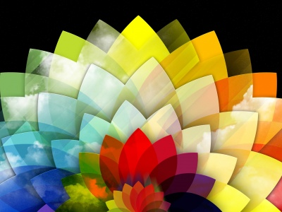 Digital Art Multicolored Flower (click to view)
