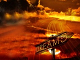 Dream Red Dark Cloud Moon Artwork