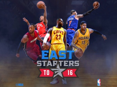 East 2016 NBA All Star Starters (click to view)